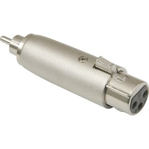 American Recorder Technologies XLR Female to RCA Male Adapter Nickel  thumbnail