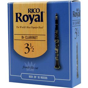 Rico Royal Bb Clarinet Reeds, Box of 10 Strength 3.5  thumbnail