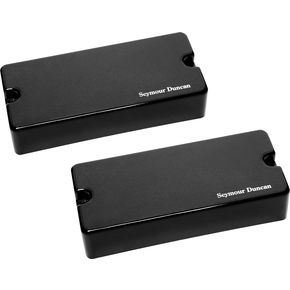 Seymour Duncan AHB-1s 8-String Blackouts Neck and Bridge Set Black  thumbnail