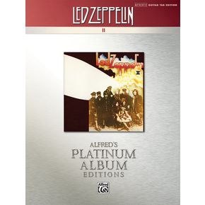 Alfred Led Zeppelin II Guitar Tab Platinum Edition Book   thumbnail
