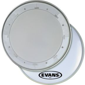 Evans MX1 White Marching Bass Drum Head  28 in. thumbnail